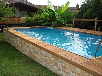 Pannelli finta pietra rivestimento per cassamatta piscina - Piscine rigide fuori terra ...