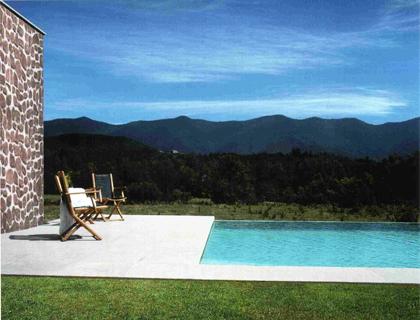 Pannelli finta pietra: rivestimento piscina fuori terra muretto ...